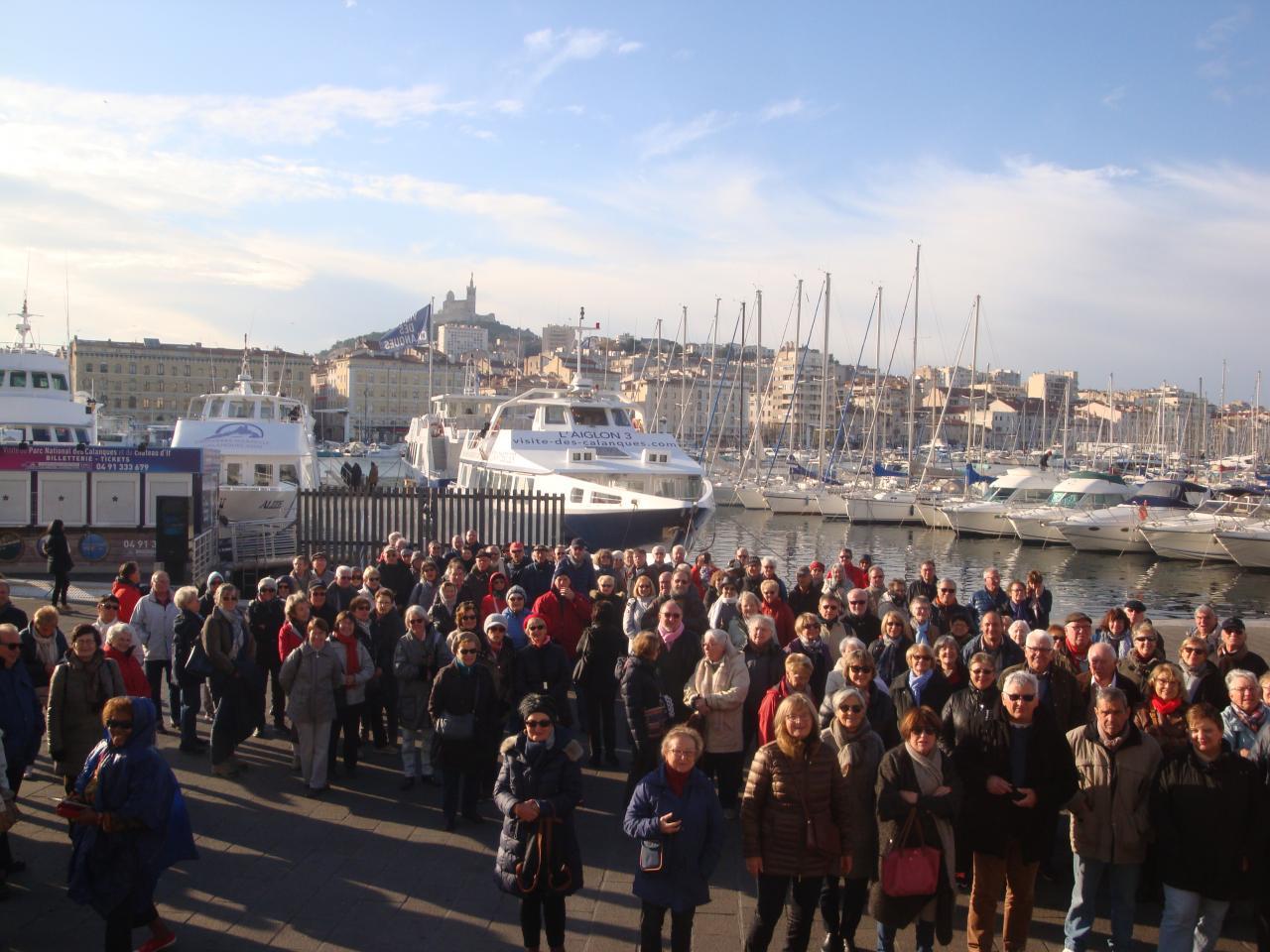 Notre groupe sur le Vieux Port